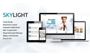 Skylight plantilla wordpress Web Corporativa